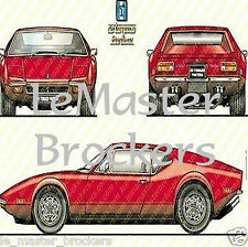 Poster automobile De Tomaso Panthara (rouge)