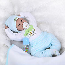 "22"" realistic reborn baby doll silicone vinyl soft gentle touch lifelike newborn"