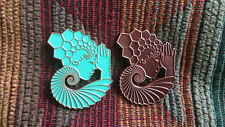 Set of 2 Official Light Child Project EDM Molecule Sacred Geometry Goddess Pin