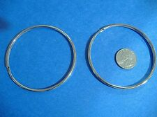 "TWO EXTRA LARGE LUCKY LINE 3"" SPLIT KEY RINGS  HIGH QUALITY RINGS MADE IN USA"