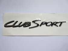 HSV VS CLUBSPORT S2 BOOT LID 'CLUBSPORT' BADGE DECAL BLACK & CHROME GENUINE HSV