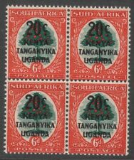 Kenya Uganda & Tanganika  20c on 6d 2 pair of bilingual stamp SG153  MNH