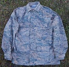 USAF US Air Force Mens Coat Utility Uniform ABU Tiger Camo 44 Long L VG