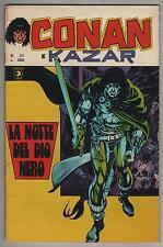 CONAN E KAZAR corno N.31 LA NOTTE DEL DIO NERO the golem il