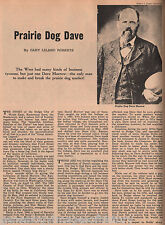 "Dodge City, Kansas Lawman ""Prairie Dog"" Dave Morrow.Names Bell, Bolds,Deger,Webb"
