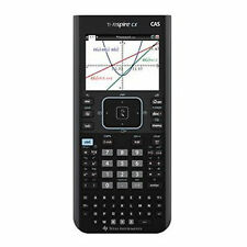 "TEXAS Instruments TI-nSpire CX CAS Calculator Color Display 3.2"" + TI AC Adapter"