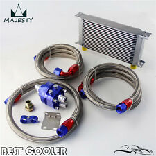 19 Row AN10 Oil Cooler Filter Relocation Kit For Toyota Nissan Honda Suzuki BL