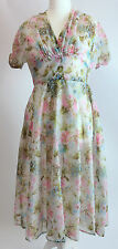 1950's Full skirted Floral Party/ Day/ Tea dress