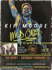 """KIP MOORE /CADILLAC THREE """"WILD ONES TOUR"""" 2016 SALT LAKE CONCERT POSTER-Country"""