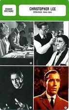 Actor Card. Fiche acteur.Christopher Lee (G-B) période 1948-1959