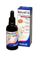 HEALTHAID BABYVIT-D 50ml - VEGAN - VITAMIN D3 400iu - SUITABLE FROM BIRTH