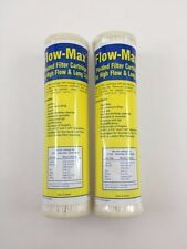 """2 Flow-Max Pleated 5 Absolute Micron Filter 9.75"""" x 2.5"""" Remove Cyst FM-5-975"""