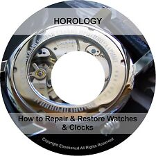 How to Repair Watch Clock Watches Wheel Work Gearing Practical Horology Books CD