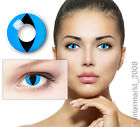 Crazy & Fun Kontaktlinsen Contact lenses - CAT EYE BLUE - 60 ml + Behälter