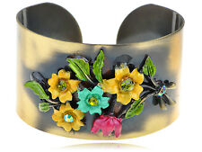 Antique Bronze Colorful Enamel Flower Adjustable New Hot Chic Bracelet