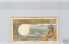 NOUVELLE CALEDONIE 100 FRANCS ND (1971) PICK 63a ALPHABET Z.1 N° 39035
