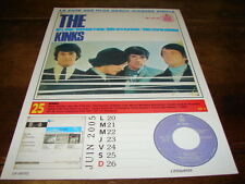 THE KINKS & LED ZEPPELIN - Mini poster couleurs RECTO VERSO CALENDRIER 2005