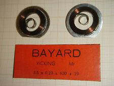 LOT DE 2 ANCIENS RESSORTS DE MOUVEMENT POUR RÉVEIL BAYARD VICKING 3,5 mmx19 mm