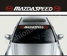 MAZDASPEED Front Windshield Decal Vinyl Car Stickers for Mazda Auto Window Acces