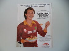 advertising Pubblicità 1983 BARILLA e PAULO ROBERTO FALCAO AS ROMA CALCIO