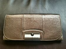 Coach Kristin Leather Slim Envelope Wallet #45132 $218 (Silver/Pewter)