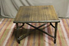 Genuine Vintage McGUIRE San Francisco Bamboo Rattan Square Coffee Table 21x32x32