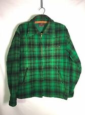 Vintage Johnson Woolen Mills Men's M Wool Hunting Jacket Green Coat Nice!!