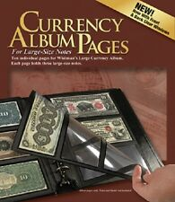 HE Harris 10 REFILL PAGES For Currency Album Large Notes Banknotes 3 Pockets