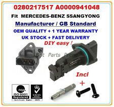 MERCEDES-BENZ SSANGYONG Mass Air Flow meter sensor 0280217517 A0000941048 OE