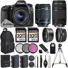 Canon EOS 80D DSLR Camera with Canon EF-S 18-55mm IS STM Lens +Canon 75-300 III