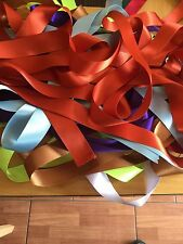 10 x 1 Metre Lengths of  Assorted Colours WIDE SATIN RIBBON 25MM OFF CUTS BUNDLE