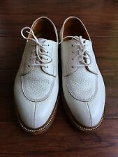 J.M. Weston Pebbled Leather Demi Chasse Derby Oxfords Shoes 3.5D US 6 or 6.5
