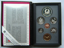 1988 Canada Double Dollar Proof Set Silver Ironworks Dollar , COA BOX