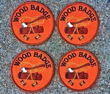 Vintage Boy Scout Merit Badges Wood Badges lot of 4