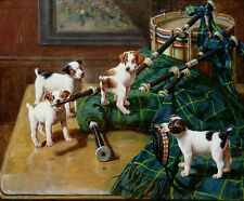 """Canvas Print Oil Painting Picture Cute dogs Printed on canvas 8""""x10"""" L1028"""