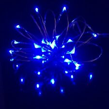 Micro 20 LED Fairy Party Bedroom Child room Mood Craft Rice Lights BLUE UK SALE
