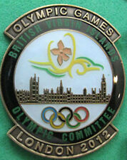 LONDON '12 Olympic BRITISH VIRGIN ISLANDS NOC Internal team - delegation pin