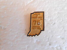 Vintage Veterans of Foriegn Wars Indiana VFW 75th 1921-1996 Lapel Pin
