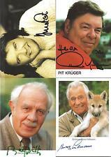 25 handsignierte Autogramme verstorbener Künstler Sammlung Händler AK Lot XYZ 1