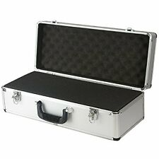 SRA Cases EN-AC-FG-C401 Silver Aluminum Hard Case for Camera, Guns, Electronics,