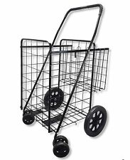 Travel Folding Shopping Cart Laundry Grocery BONUS EXTRA Basket