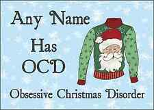 Novelty Jumper OCD Christmas Personalised Printed Certificate