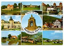 Forta Westfalica Postcard Westfalische Pforte Minden Schactschleuse Hausberge
