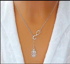 Fashion Charm Jewelry Pendant Chain Fatima Choker Chunky Statement Bib Necklace