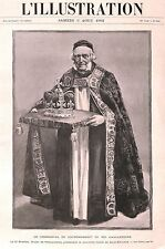 1902.Crown.Coronation.Edward V11,Ceremony.Dean of Westminster.Royalty.Antique