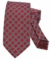 NEW Gucci Men's 349401 Burgundy Silk GG Chain Neck Tie