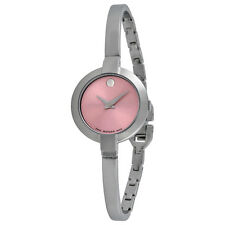 Movado Bela Pink Dial Stainless Steel Bangle Ladies Watch 0606596