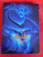 NEW Walt Disney Aladdin DeLuxe Video Box Set Lithographs Book CD VHS Exclusive