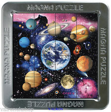 AMAZING PLANETS 3D MAGNETIC JIGSAW PUZZLE IN METAL TIN CAN BE MADE ANYWHERE