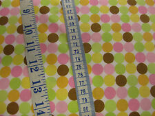 Pastel Spots Fabric from Riley Blake's 'Sweet Baby Girl' 100% cotton per FQ